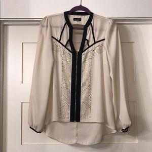 Sheer bling blouse
